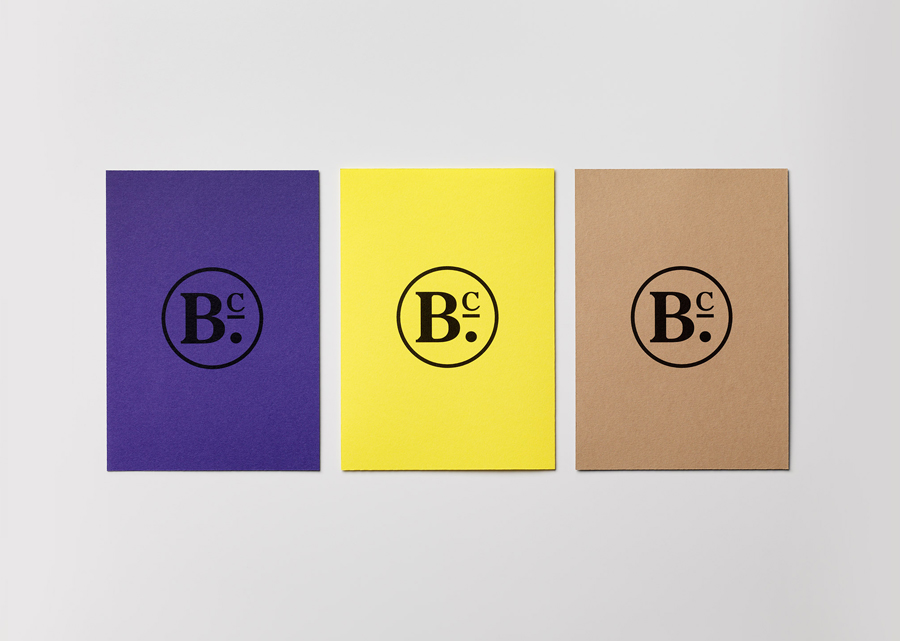 Brand identity and print with coloured paper for publisher Bearleader Chronicle by The Studio, Sweden