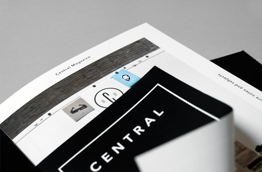 Logo and print for Spanish art, design, fashion and pop culture magazine Central designed by Leon Jorge