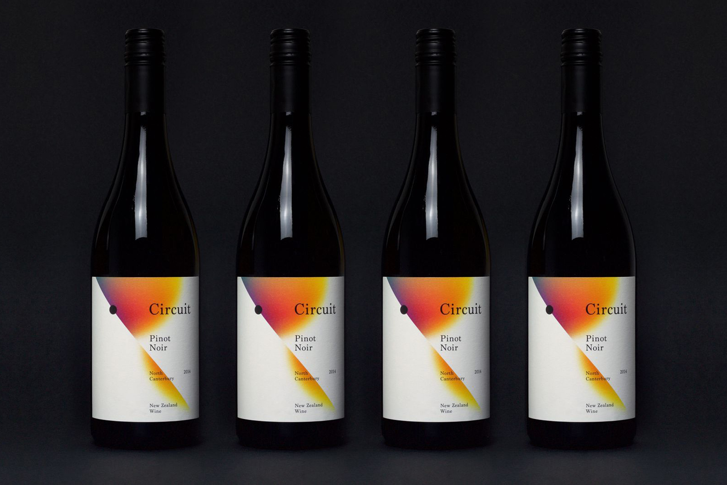 Package design for Black Estate's wine range Circuit designed by graphic design studio Toko