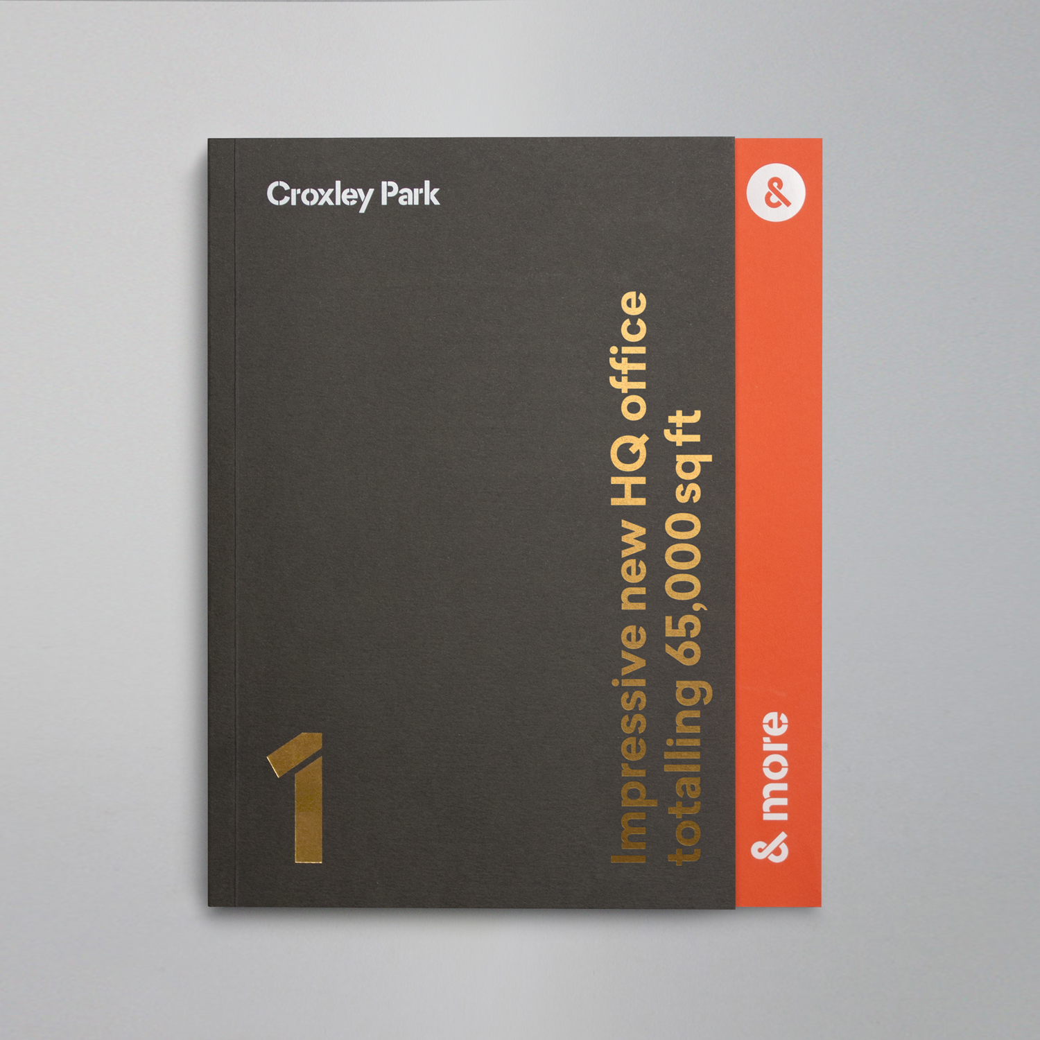 Brand identity and brochure with uncoated paper and block foil print finish by Blast for UK business park Croxley Park