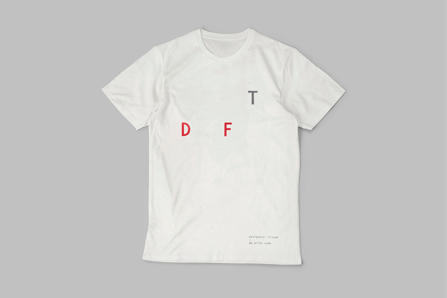 Brand identity and t-shirt by London-based graphic design studio Paul Belford Ltd. for web development business Designers' Friend.
