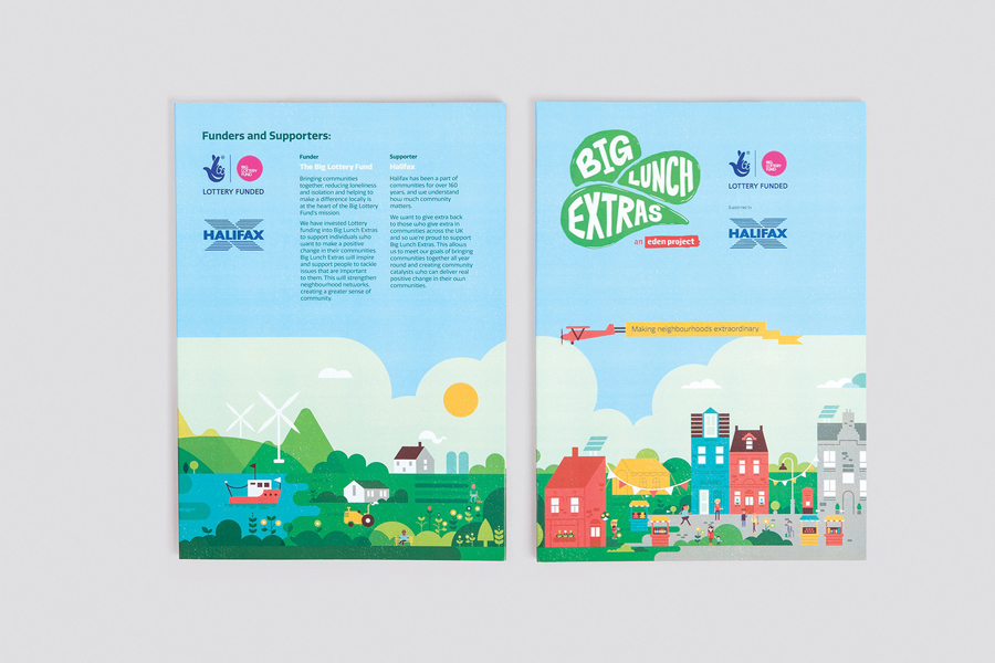 Print designed by Believe In for Eden Project's Big Lunch Extras