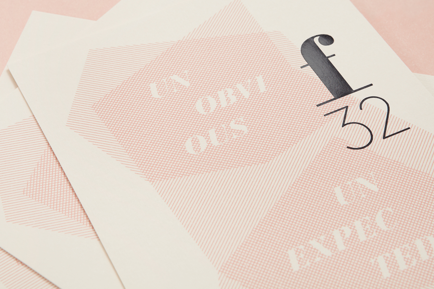 Brand identity and block foiled postcards by Blok for LA based trend-watching company f32