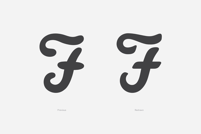 Logo for UK men's fashion brand Farah Farah by graphic design studio Post