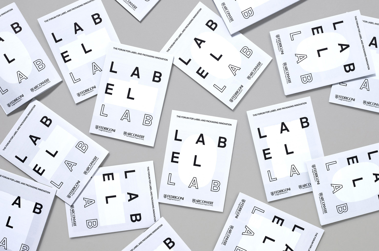 Logotype and programme by TM for Label Lab, The Forum for Label and Packaging Innovation, hosted by Arconvert.