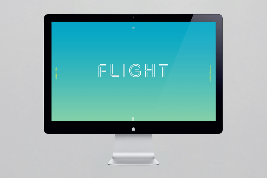 Logotype and website designed by DIA for LA based public relations business Flight