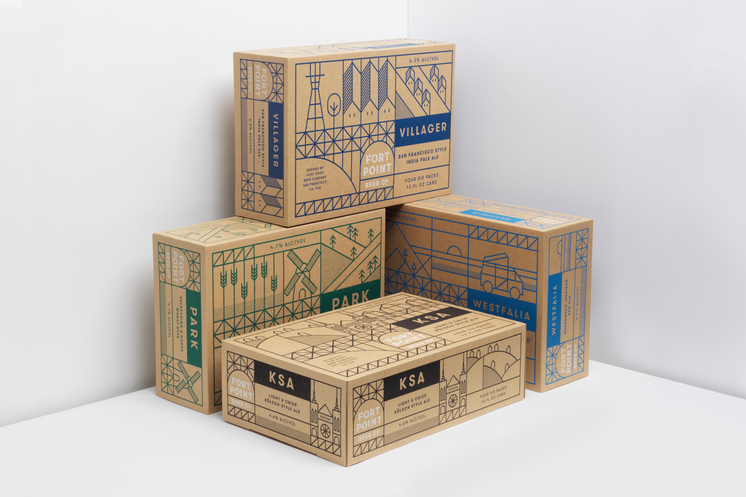 New packaging for fort point beer co by manual bp o for Design companies in san francisco