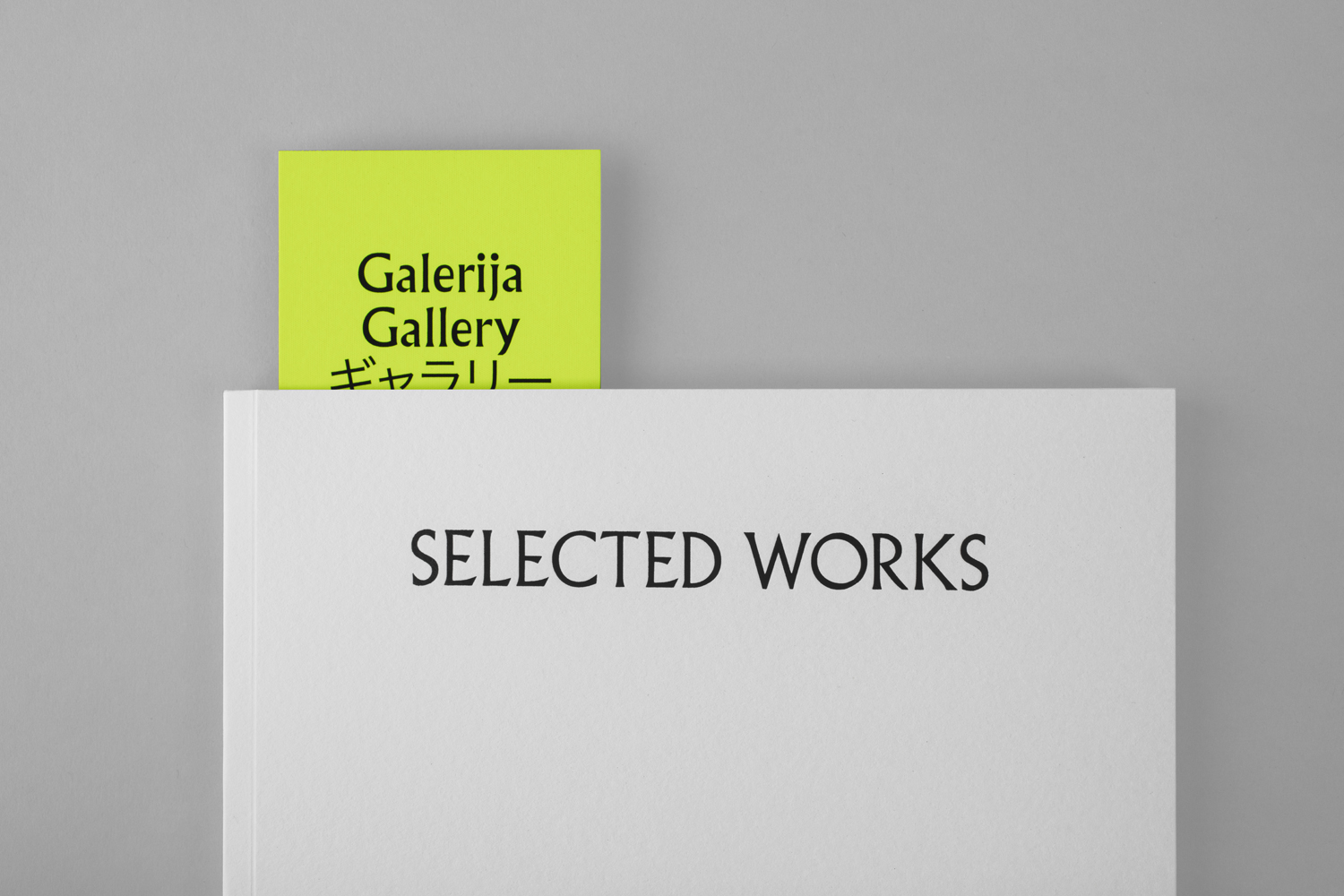 Brand identity, brochure and bookmark for Galerija Kranjčar by Bunch, Croatia
