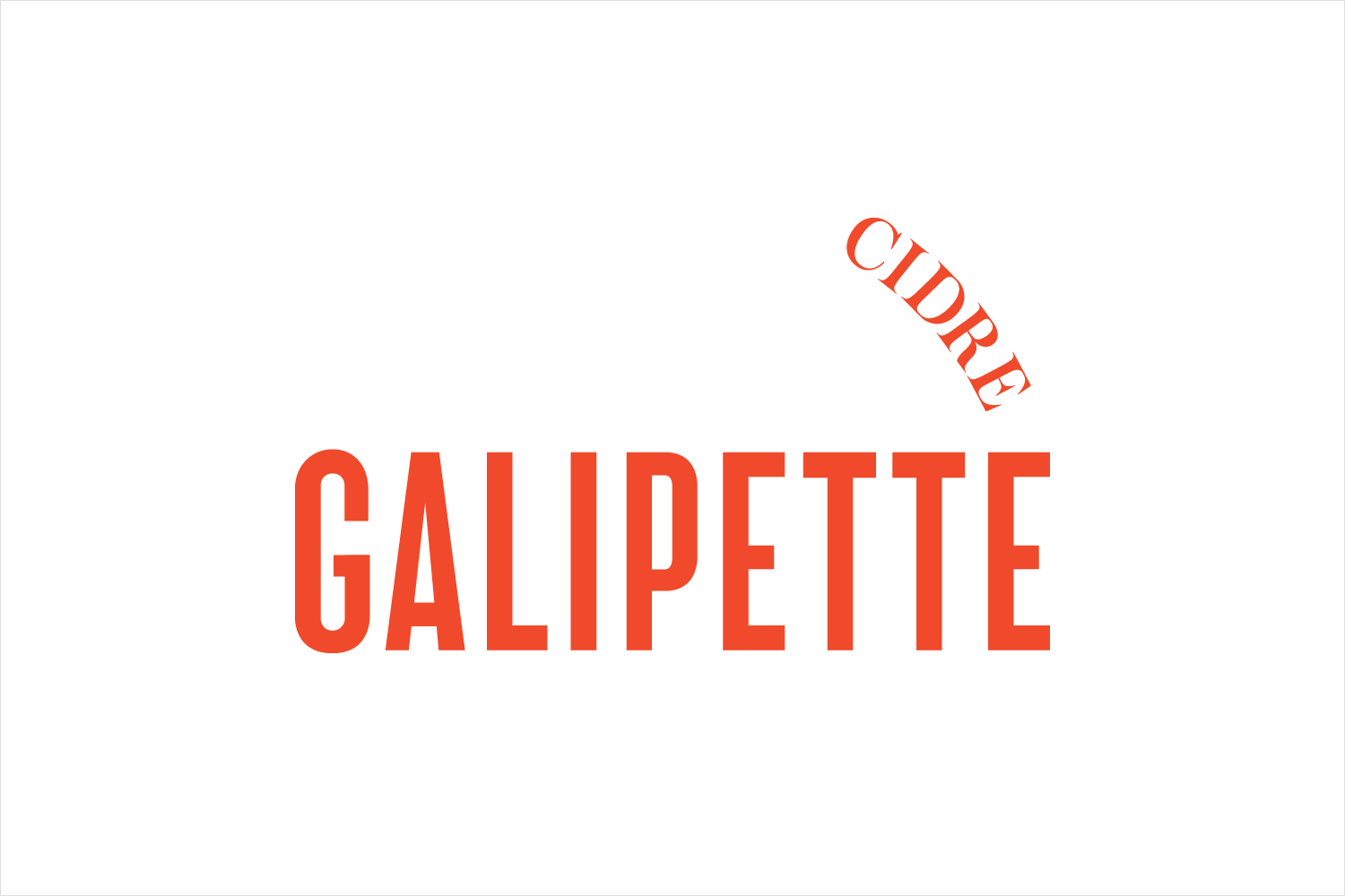 Logotype for authentic, French premium cidre Galipette Cidre by Werklig, Finland