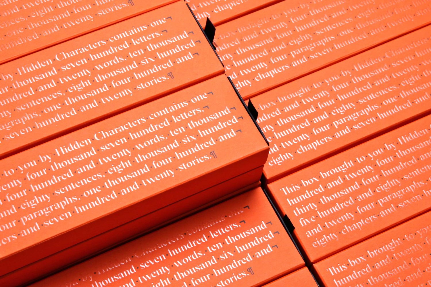 Brand identity and branded pencil box for Sydney-based PR firm Hidden Characters by RE, Australia