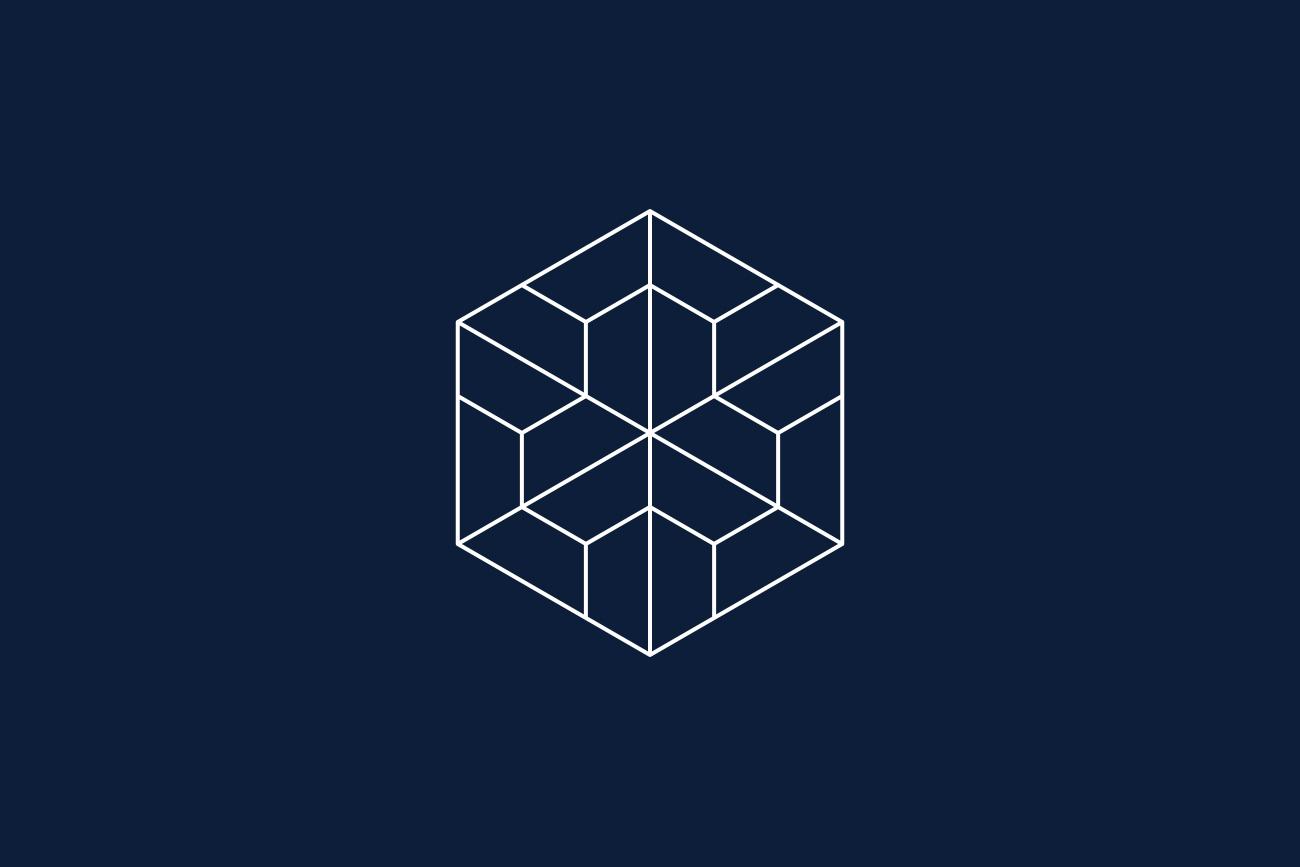 Huckleberry Roasters hexagonal motif