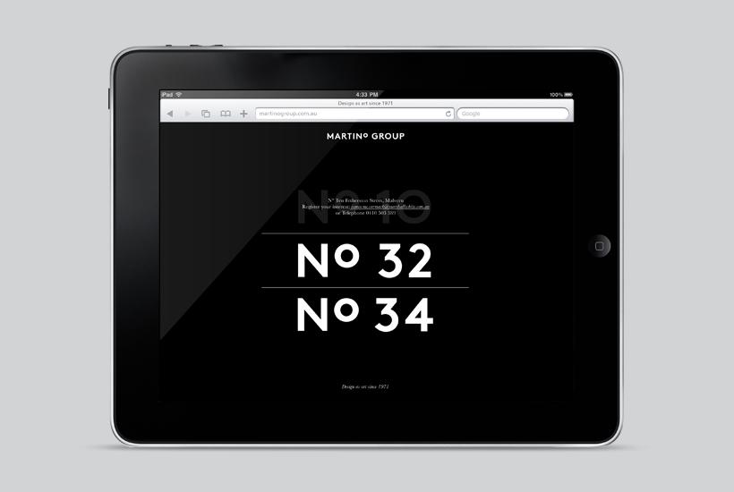 Logo and mobile website for Australian property developer Martino Group designed by Studio Hi Ho