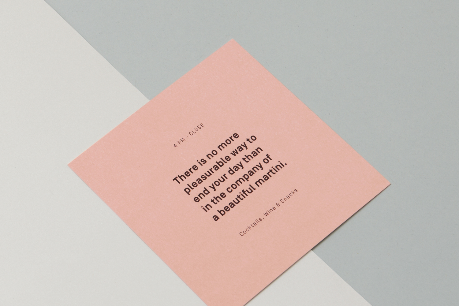 Brand identity and print for Toronto restaurant Nota Bene by graphic design studio Blok, Canada