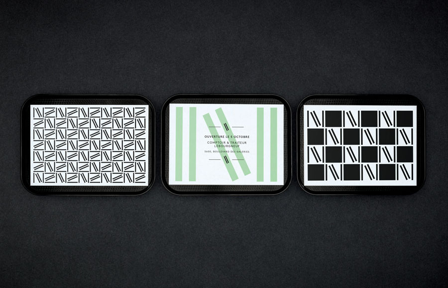 Branded trays designed by lg2boutique for Quebec City delicatessen Nourcy