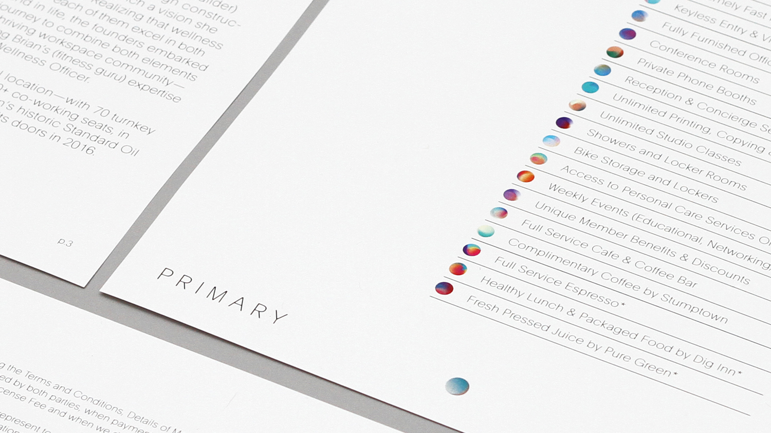 Brand identity for New York co-working concept Primary designed by DIA