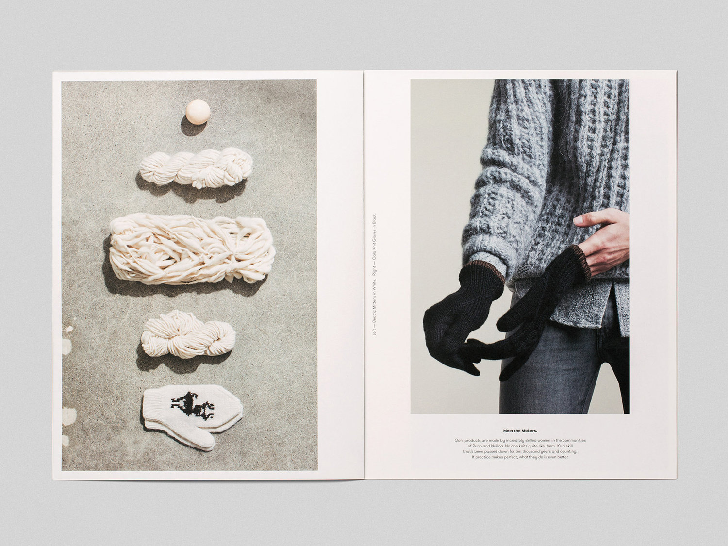 Lookbook and art direction by Toronto-based Leo Burnett Design for Peruvian handmade knitwear brand Qoñi