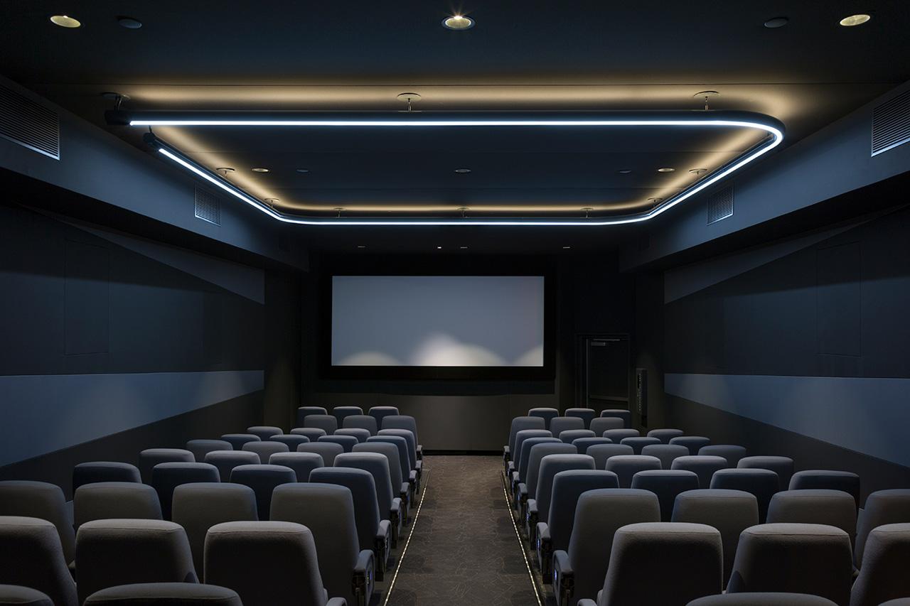 Screening room lighting by Pentagram for New York's Quad Cinema