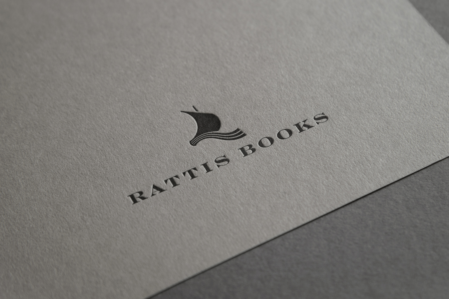 Branding by London-based design studio, private press and typography workshop The Counter Press for UK independent publisher Rattis Books.