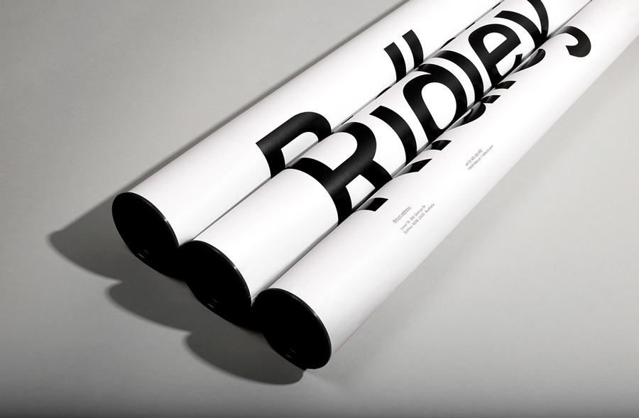 Logotype and tube designed by RE: for digital architecture and documentation service Ridley. Featured on bpando.org