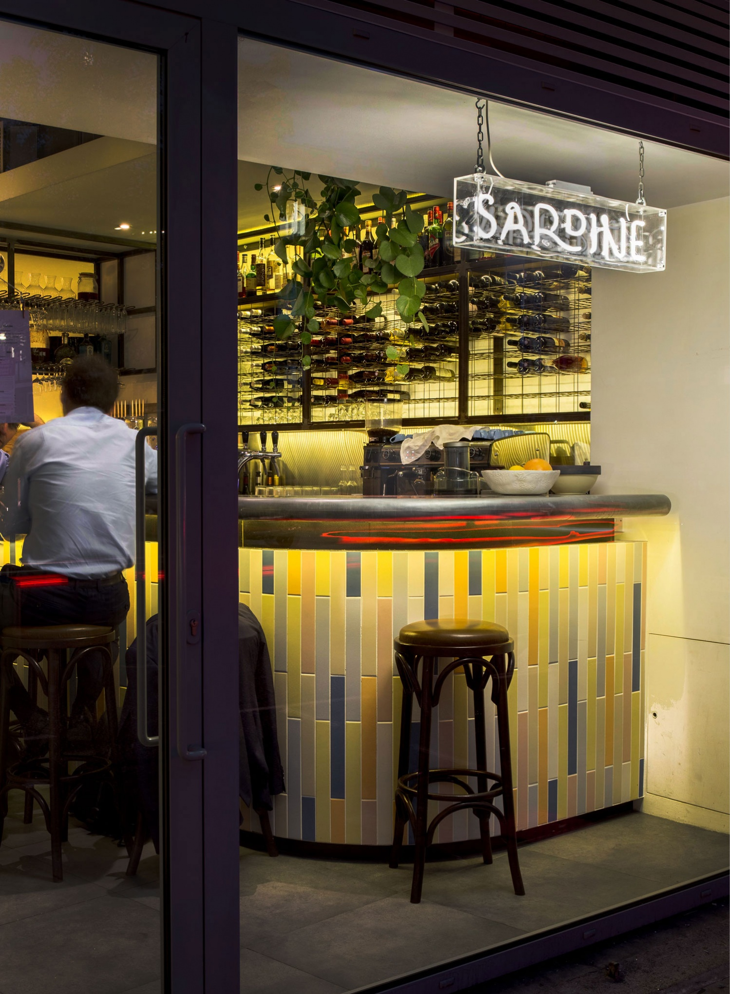 Logo, menus and signage by British studio Here Design for London-based Southern French and Mediterranean food restaurant Sardine