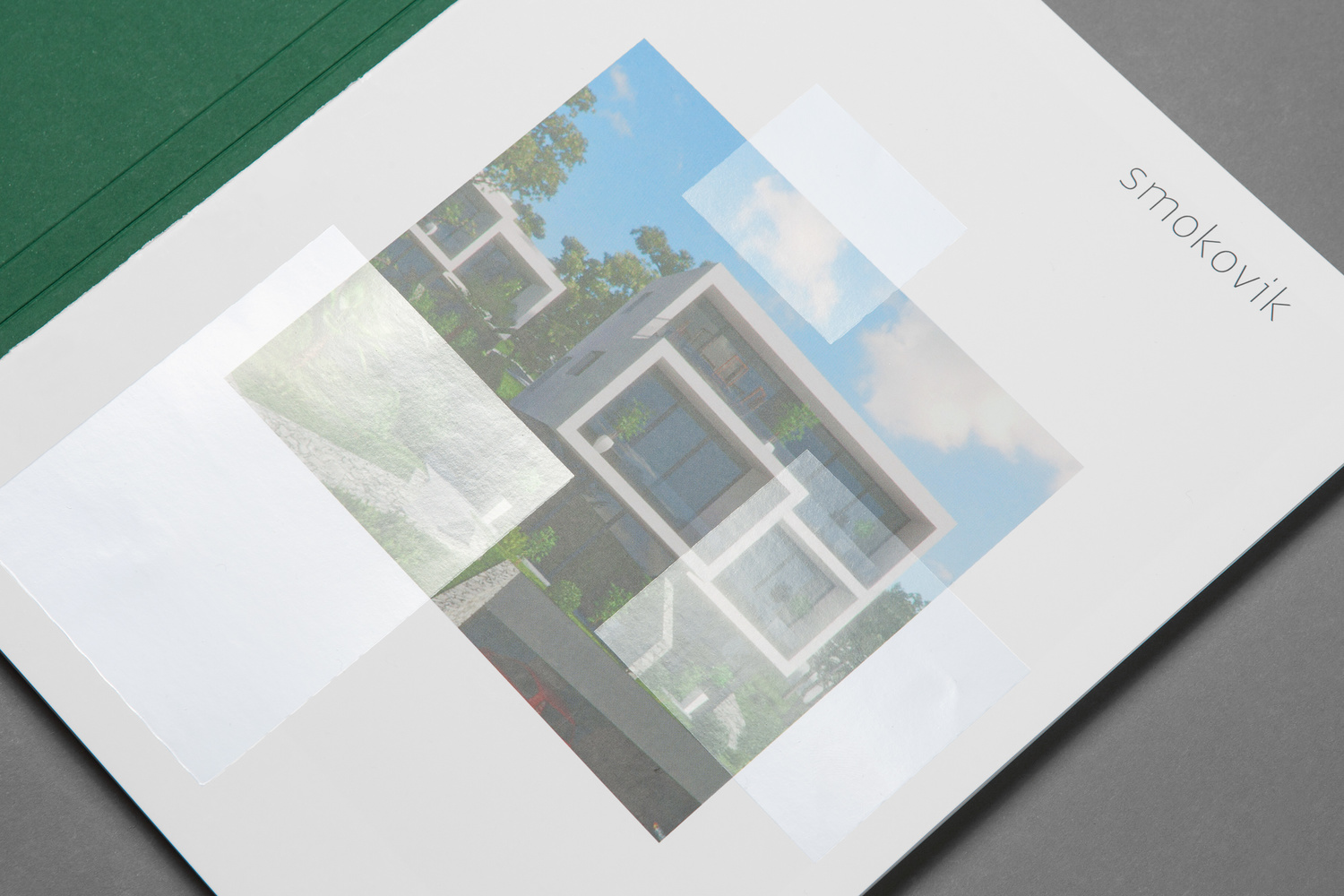Brand identity and brochure with varnish detail by Studio8585 for Croatian property development Smokovik