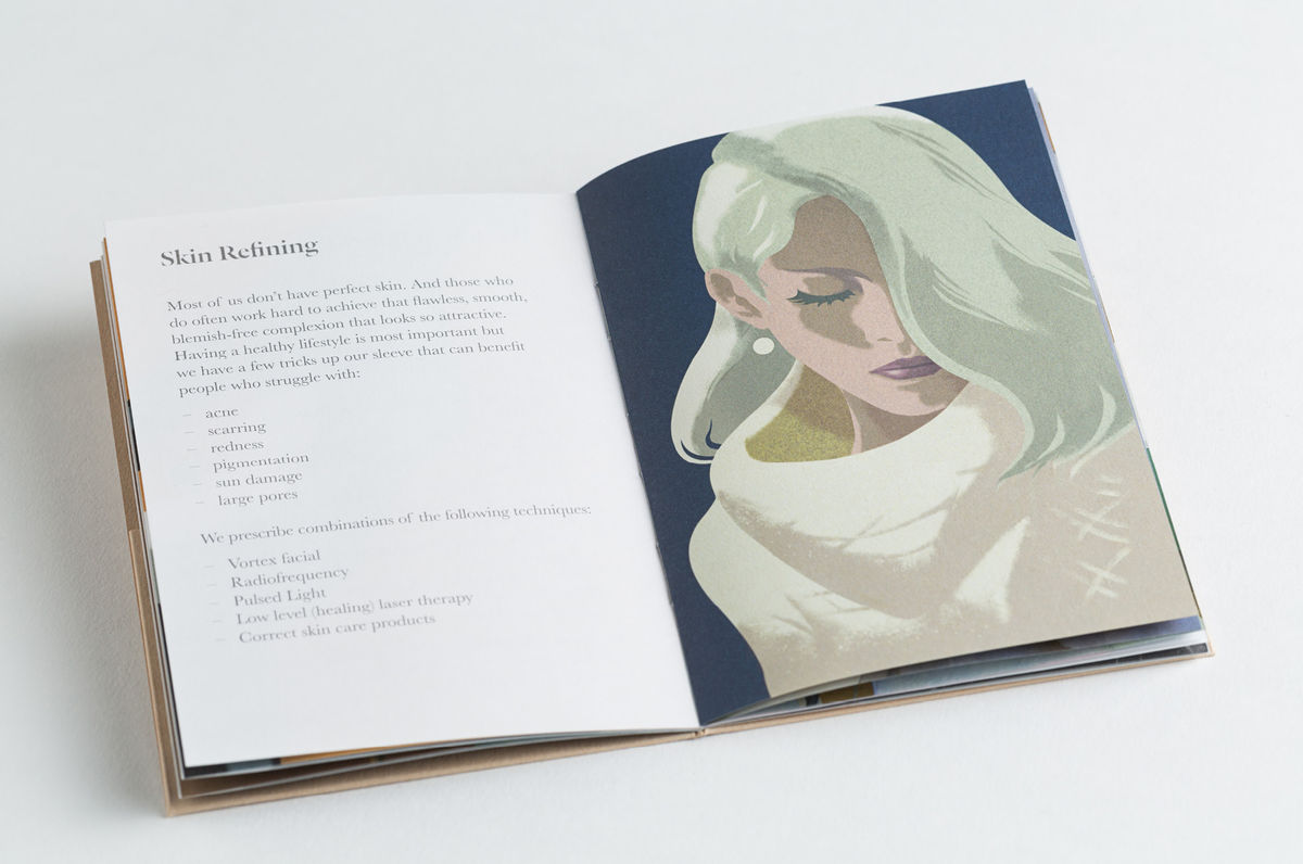 Brand identity and brochure for Melbourne based non-invasive cosmetic surgery The Doctor's Studio by graphic design studio A Friend Of Mine