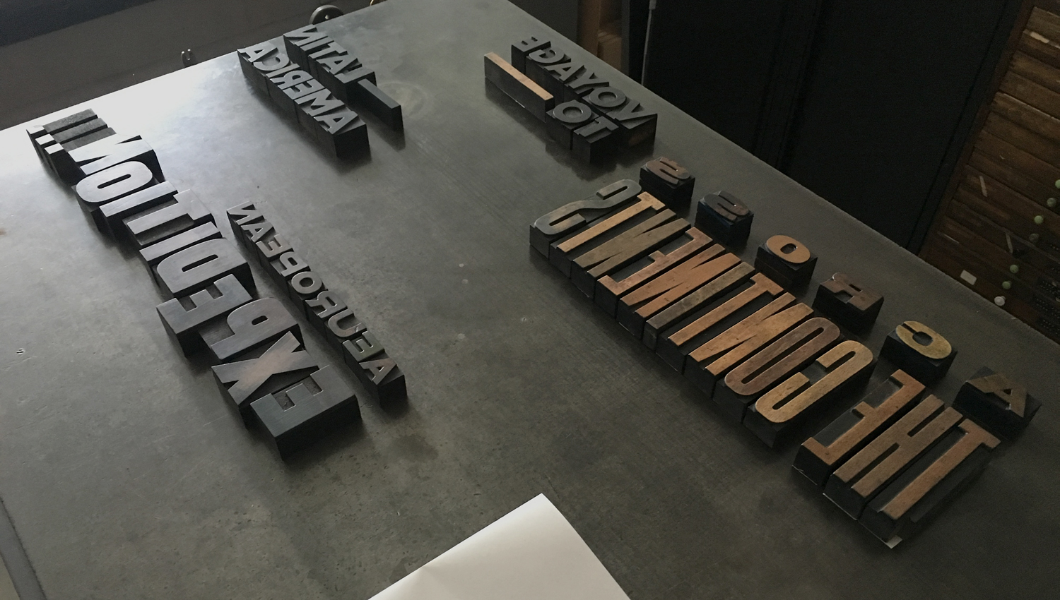 Type blocks for the book Tiro, released by UK independent publisher Rattis Books and typeset by The Counter Press