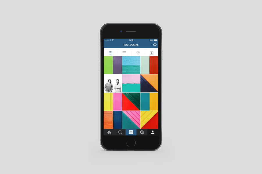 Instagram posts by British brand identity design studio Two of Us