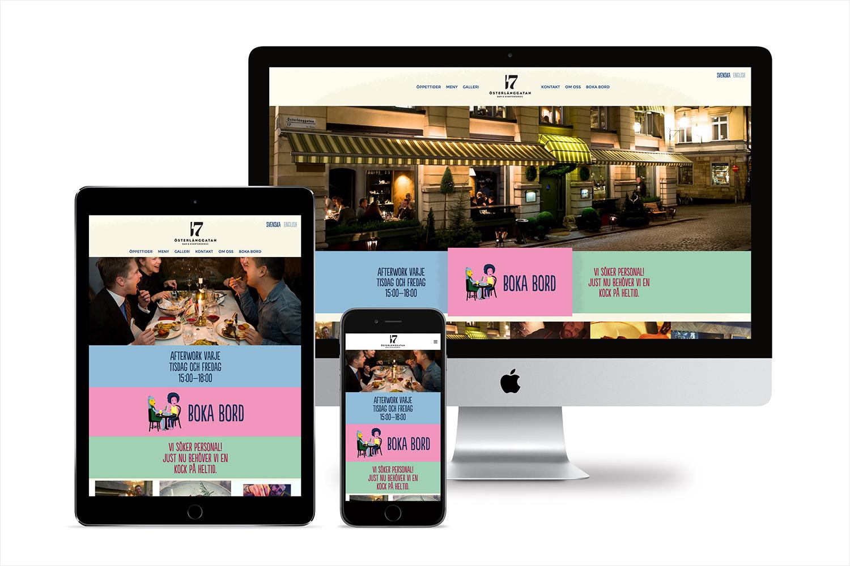 Brand identity and website for Stockholm restaurant Österlånggatan 17 by Lobby Design