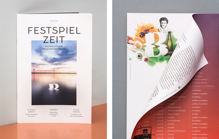Logo, print and campaign work by graphic design studio Moodley for Austria's Bregenz Festival