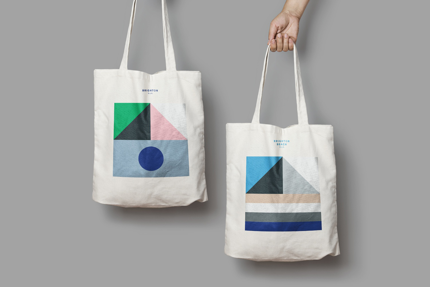 Logo, business cards, tote bags and website designed by Studio Brave for Brighton & Brighton Beach early learning centres.