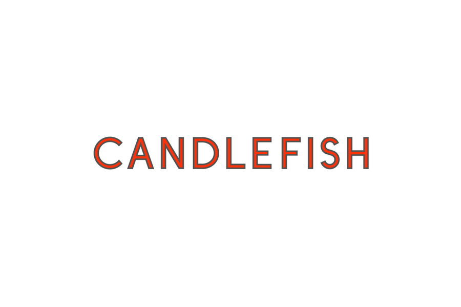 Logotype for Charleston scented candle store and workshop Candlefish by Fuzzco