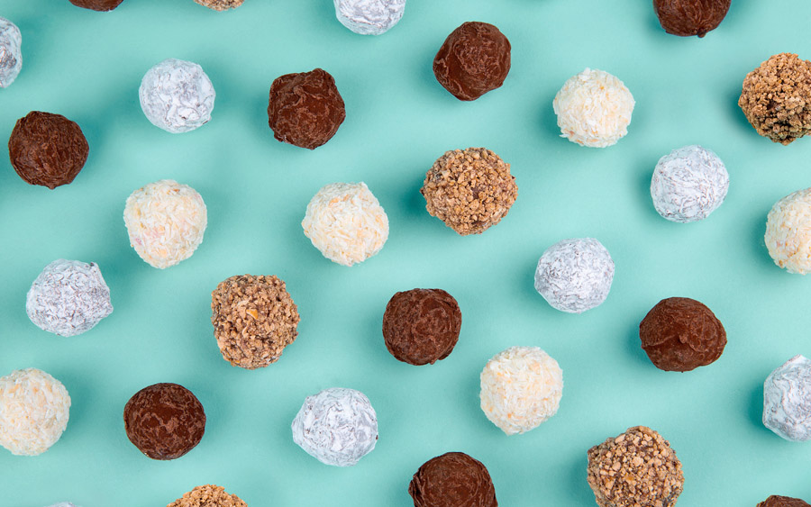 Artisanal chocolate truffle business Costello + Hellerstein product photography by Robot Food