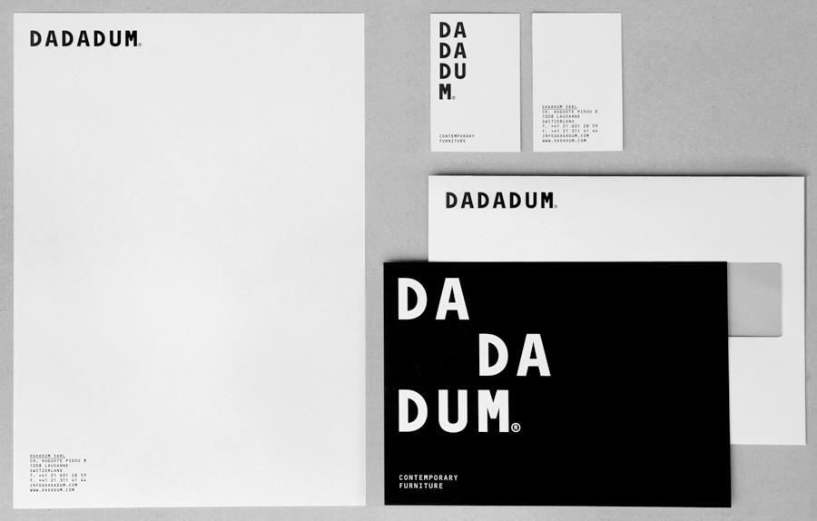 Black & White Branding – Dadadum by Demian Conrad Design, Switzerland