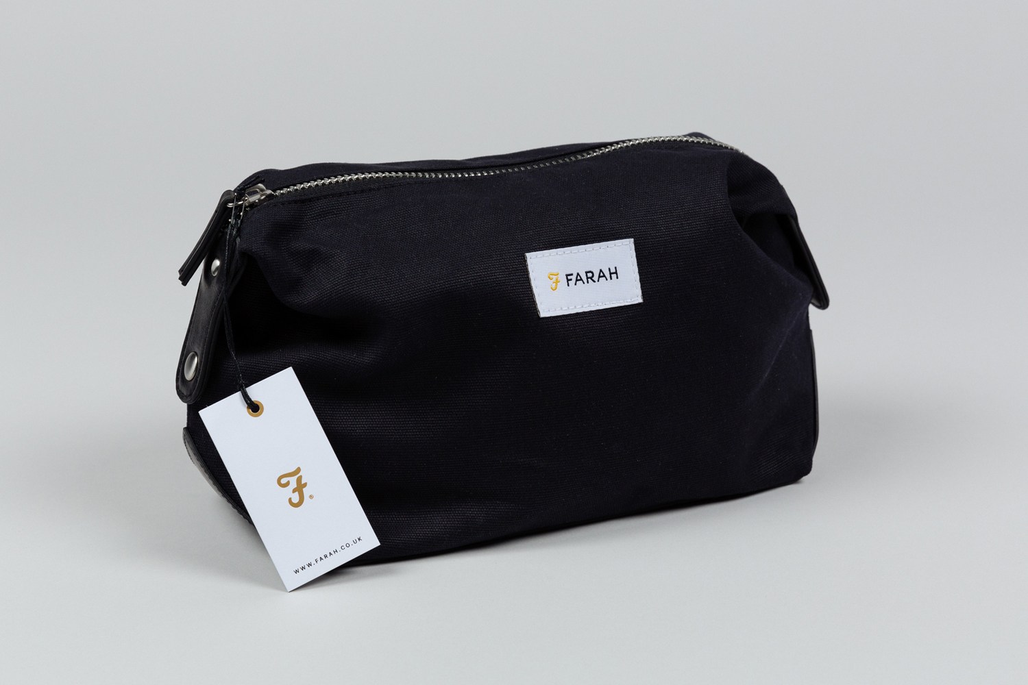 Brand identity, tag and label for UK based men's fashion brand Farah by graphic design studio Post