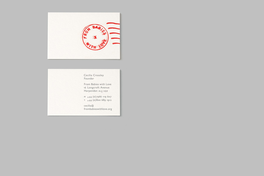 Business cards for From Babies With Love by Paul Belford Ltd