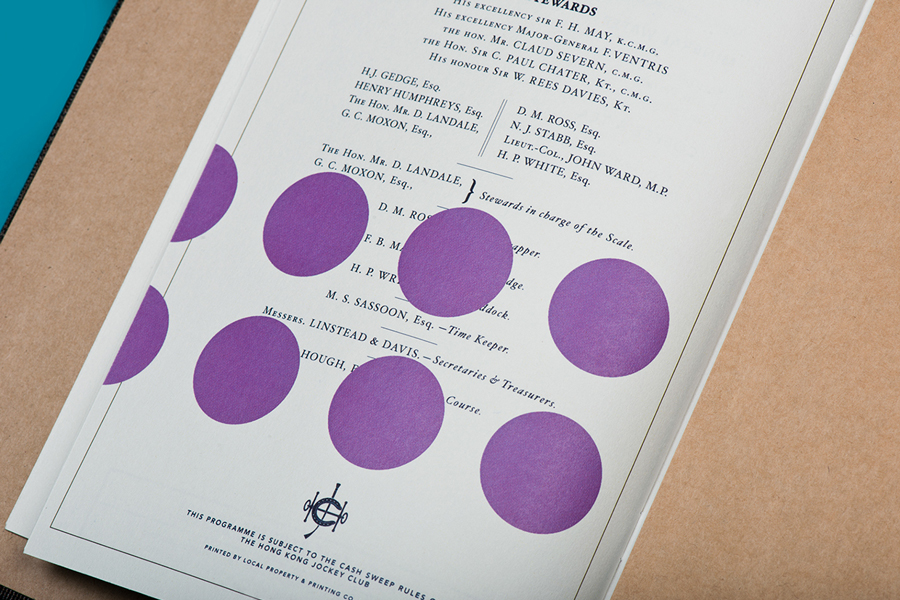 Fabric covered menu for Hong kong restaurant Hay Market designed by Foreign Policy