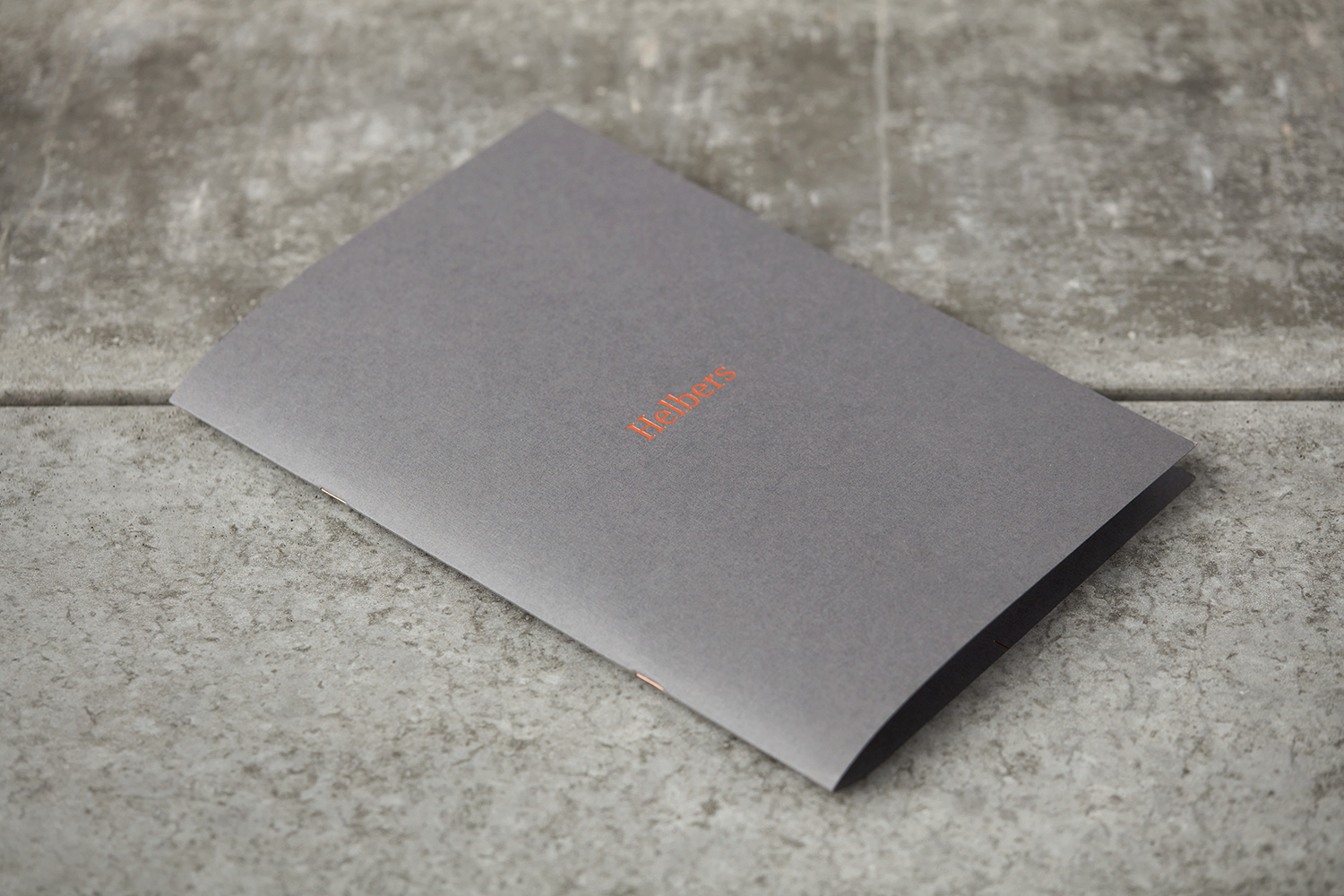 Brand identity and lookbook with copper foil print finish by Leeds-based graphic design studio Only for Parisian menswear label Helbers