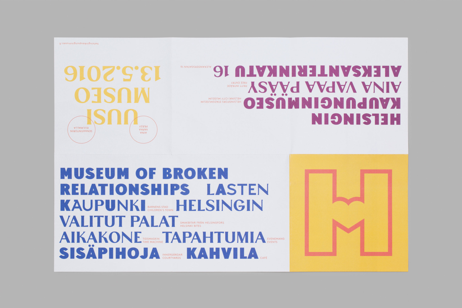Brand identity, custom typography and print by Finnish graphic design studio Werklig for Helsinki City Museum