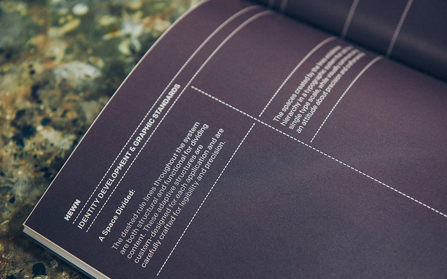 Brand book for woodworking shop Hewn designed by Föda, United States