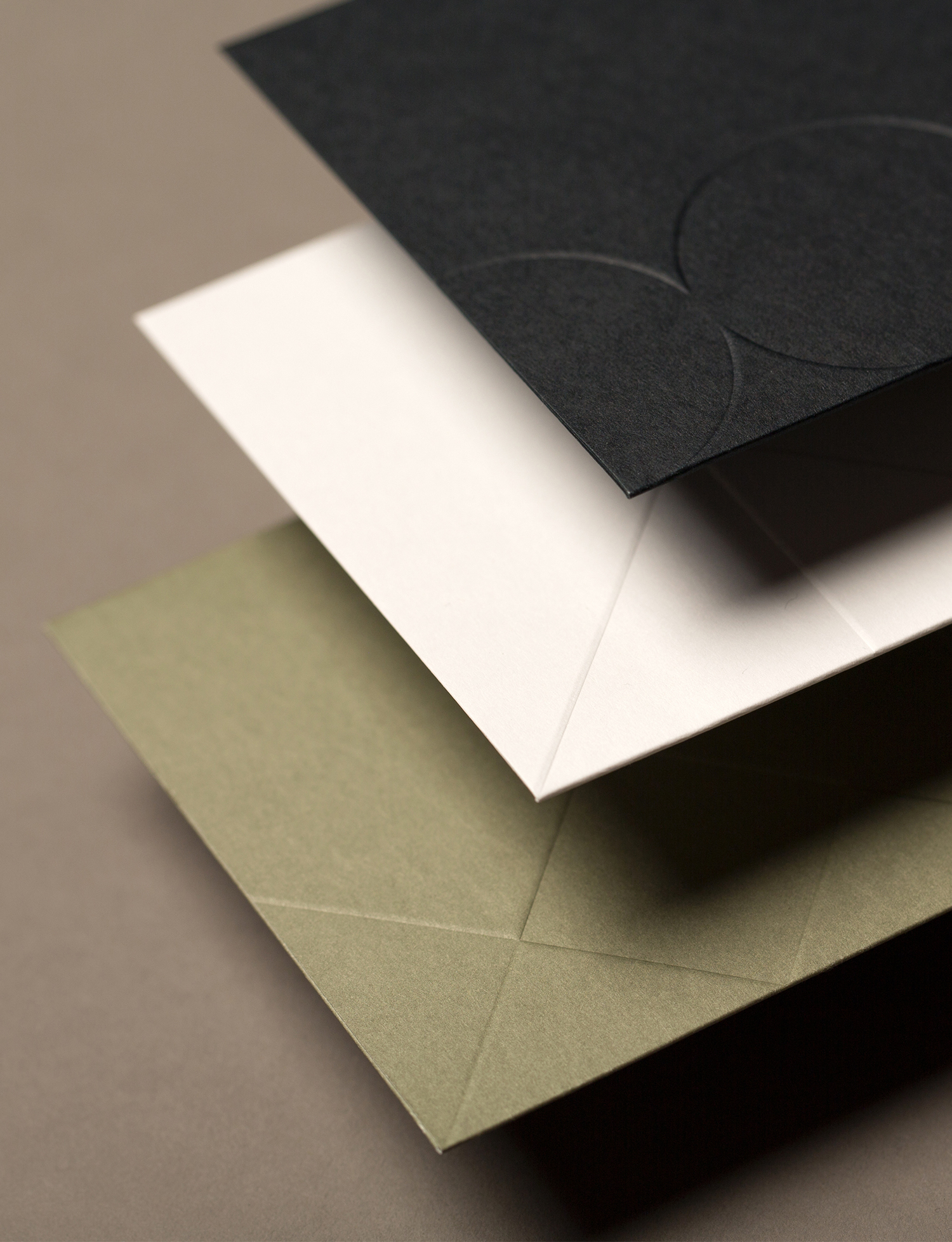Brand identity and business cards with block foil and blind deboss detail designed by Face for Hicks, Mexico.
