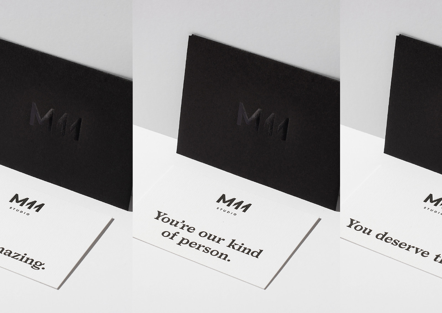 Brand identity for Auckland-based luxe salon M11 designed by Inhouse, New Zealand