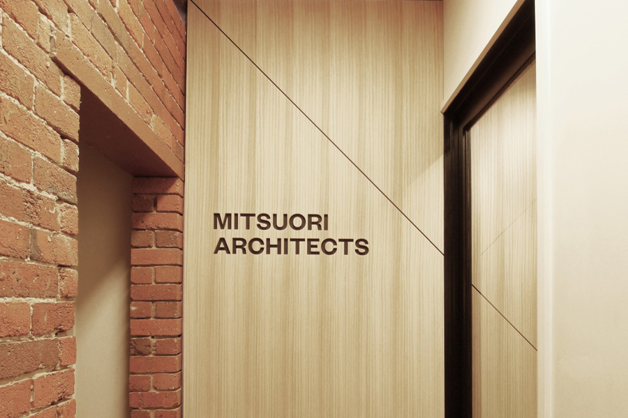 Logotype and signage designed by Hunt & Co. for Melbourne based architectural design studio Mitsuori Architects