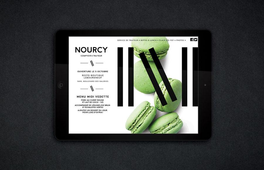 Website designed by lg2boutique for Quebec City delicatessen Nourcy