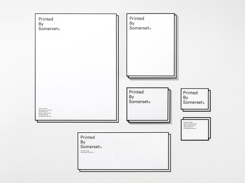 Brand identity and stationery by Leo Burnett Toronto for print production studio Somerset