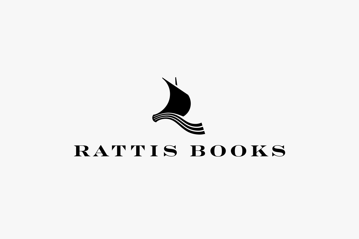 Logo and logotype by London-based design studio, private press and typography workshop The Counter Press for UK independent publisher Rattis Books.