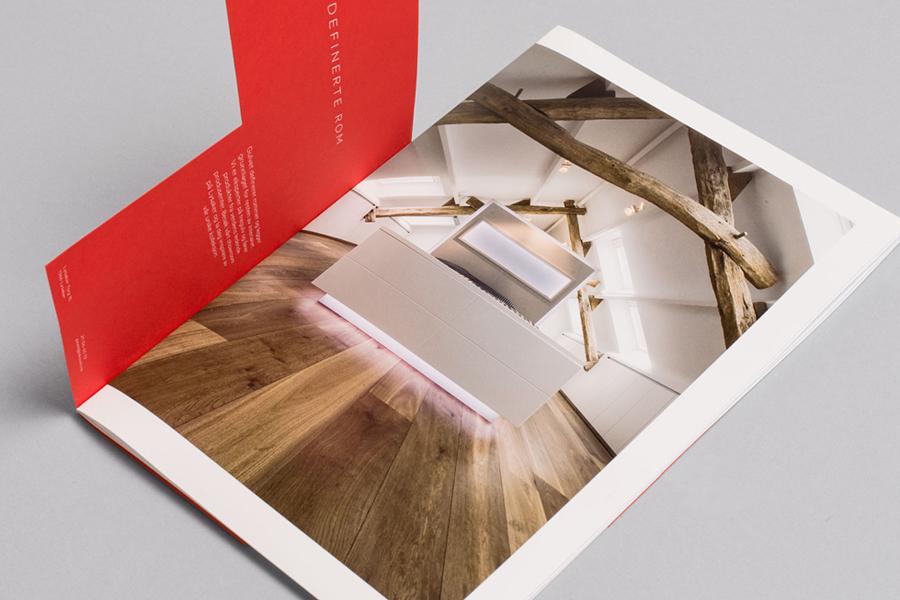 Print designed by Heydays for Norwegian high-end wood flooring specialist Skovin