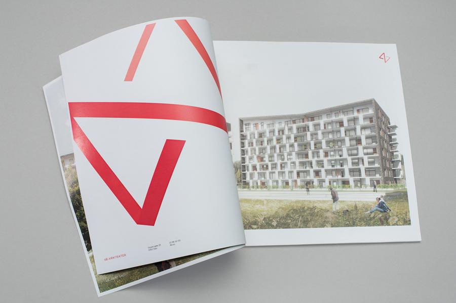 Brochure for 4B Arkitekter by graphic design studio Commando Group