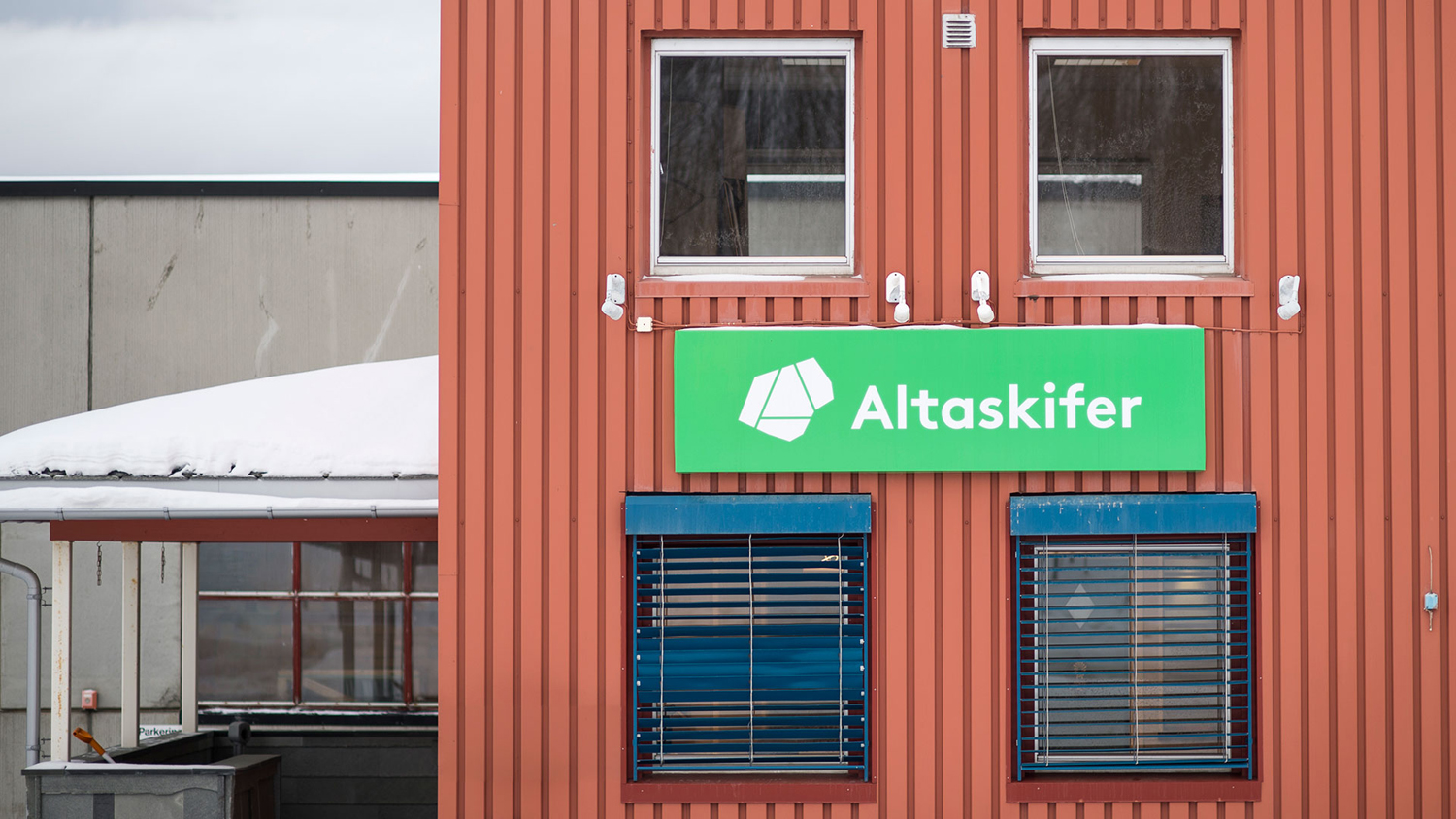 Brand identity and signage for Alta Quartzite mining and sales business Altaskifer designed by Neue, Norway