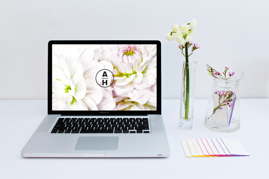 Logo and website for writer, editor, hair and makeup artist Anni Hall designed by Dittmar